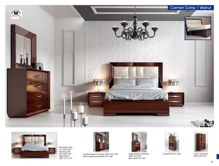 Bedroom Furniture Modern Bedrooms Carmen Walnut