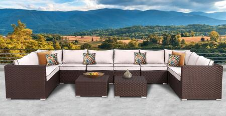 SunHaven Valeria Collection Deep Seating Group with in Brown Color