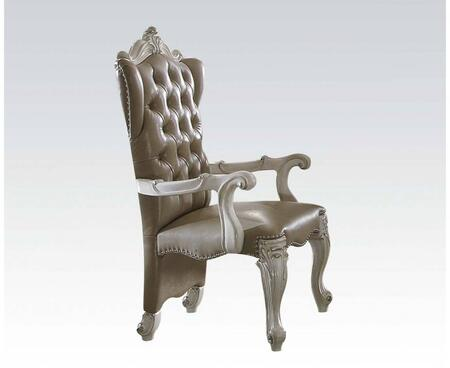 Acme Furniture 61133 Versailles Series Traditional PU Leather Wood Frame Dining Room Chair