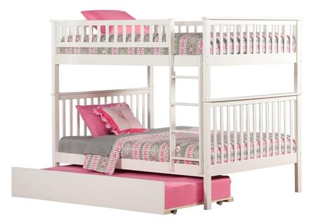 Atlantic Furniture AB5655 Woodland Bunk Bed Full Over Full With Urban Trundle Bed