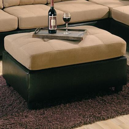 Coaster 500676 Harlow Series Contemporary Microfiber Ottoman