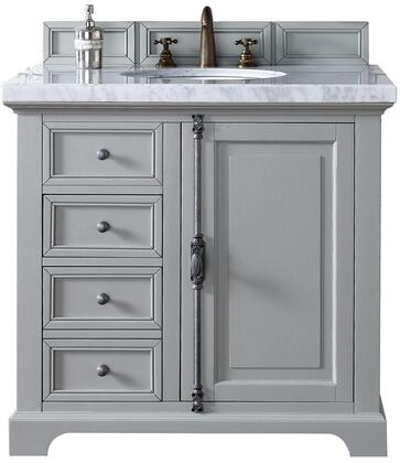 """James Martin Providence Collection 238-105-V36-UGR- 36"""" Urban Gray Single Vanity with Plantation Style Hardware, One Soft Close Door, Two Soft Close Drawers and"""