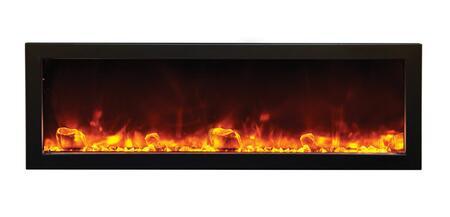 Amantii BI50SLIM Panorama Series Wall Mountable Electric Fireplace
