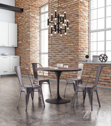 """Zuo 10814 Elio Collection 17"""" Seat Height Modern Dining Chair:"""