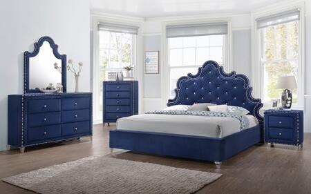 Meridian CAROLINEQPBDMNC Caroline Queen Bedroom Sets
