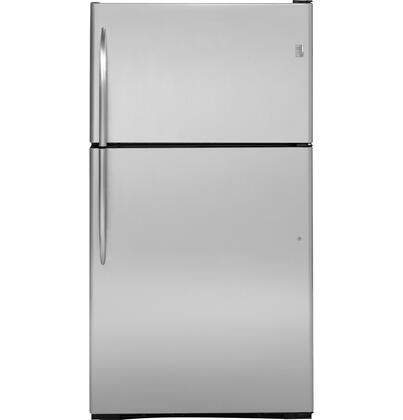 GE Profile PTS25SHSSS Profile Series Freestanding Top Freezer Refrigerator with 24.6 cu. ft. Total Capacity 2 Glass Shelves 7.08 cu. ft. Freezer Capacity