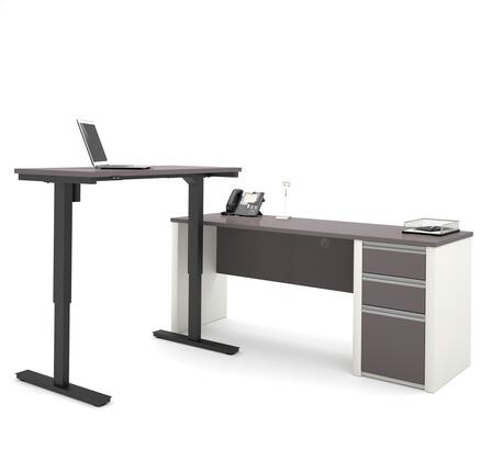 Bestar Furniture 93885 Connexion L-Desk including Electric Height Adjustable Table