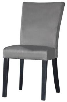 Chintaly MONICAPRSSCGRY2SET Monica Dining Room Chairs