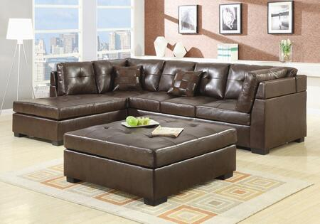 Coaster 500686 Darie Series Stationary Bonded Leather Sofa