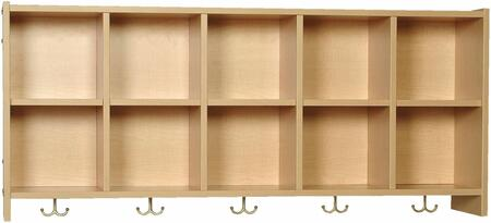 Mahar M12Wall 12 Compartment Wall Mount Locker in Maple Finish With Edge Color
