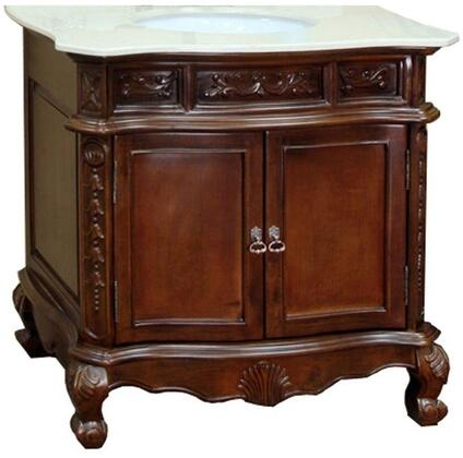 "Bellaterra Home 202016ASX 34.6"" Single Sink Vanity - Wood - Walnut"