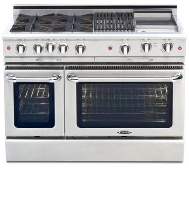 "Capital CGMR484BBN 48"" Culinarian Series Natural Gas Freestanding"