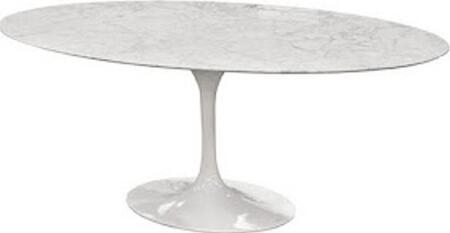 "Fine Mod Imports FMI10024 78"" Marble Oval Flower Table In"