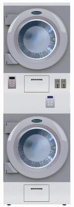 "Crossover DAWS2E 27"" ADA Compliant Stacked Electric Dryer Combination with 15 cu. ft. Total Capacity, 50 RPM Tumbling Speed, 220 CFM Airflow, Commercial Grade Construction, Stainless Steel Non-Removable Lint Screen, and Fast Drying, in Grey"