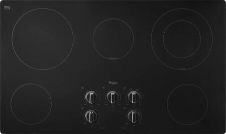 "Whirlpool W5CE3625AB 36""  Electric Cooktop, in Black"