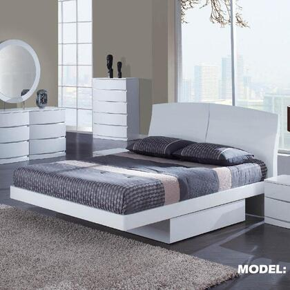 Global Furniture USA ARIAWHKB Aria Series  King Size Bed
