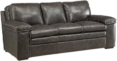 Coaster 505841 Regalvale Series Stationary Leather Match Sofa