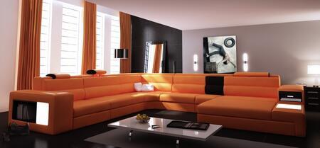 VIG Furniture VGEV5022OR Divani Casa Polaris Series Stationary Leather Sofa