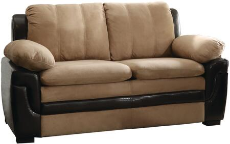 Glory Furniture G288L Microfiber Stationary with Wood Frame Loveseat