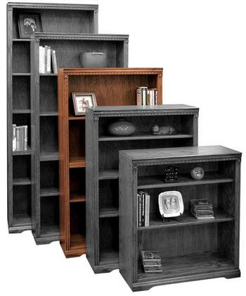 Legends Furniture SD6860RST Scottsdale Series Wood 3 Shelves Bookcase