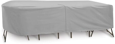 """PCI by Adco 108"""" x 80"""" x 30"""" Oval/Rectangular Table and 6 High Back Chairs Cover with Water Resistant, Secured Velcro Ties and Heavy Duty Vinyl Fabric in"""