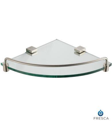 Fresca FAC0448 Ottimo Corner Glass Shelf with Heavy Duty Brass in