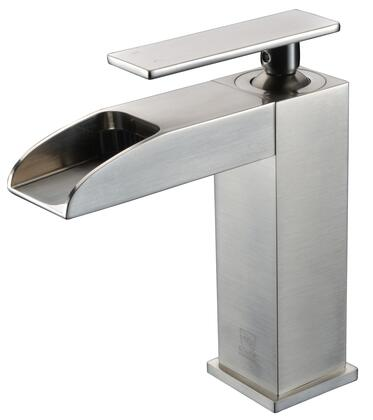 Alfi AB1598-X Waterfall Bathroom Faucet with Brass, Valve, Single Lever Control, Single Hole Deck Mount Installation, UPC Certified and 5-Year Warranty in