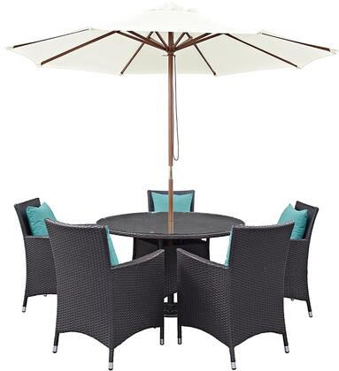 Modway EEI2193EXPTRQSET Round Shape Patio Sets
