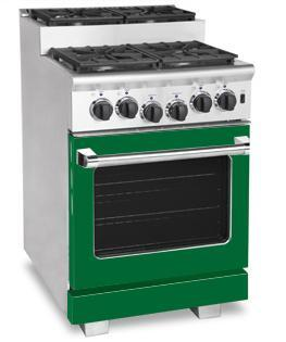 American Range ARR244SFG Titan Series Gas Freestanding Range with Sealed Burner Cooktop, 3.71 cu. ft. Primary Oven Capacity, in Green