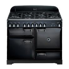 AGA ALEG44ECDBLK Legacy Series Electric Freestanding Range with Smoothtop Cooktop, 2.2 cu. ft. Primary Oven Capacity, Storage in Black