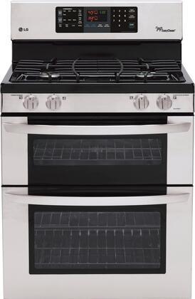 LG Double Oven Freestanding Gas Range, LG LDG3031ST - Appliances Connection
