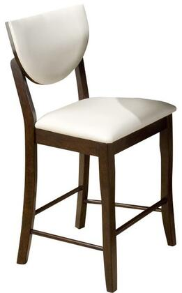 Jofran 433BS406KD Satin Series Contemporary Faux Leather Wood Frame Dining Room Chair