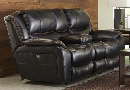 Catnapper 645199115208125208122309 Beckett Series Faux Leather Reclining with Metal Frame Loveseat