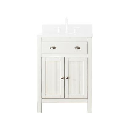 Avanity HAMILTON-V Hamilton Vanity Only with Soft Closed Doors, Adjustable Shelf, Adjustable Height Levelers and Wood Construction in French White