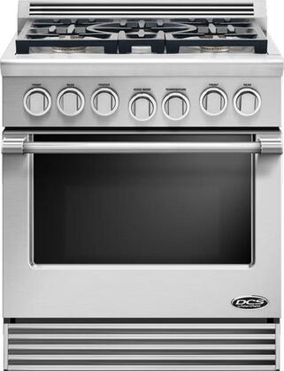 "DCS Professional RDV-305 30"" Slide-In Dual Fuel Gas Range with 4.0 cu. ft. Capacity, 5 Sealed Burners, 77500 Total BTUs, 3 Oven Racks, 5 Shelf Positions"