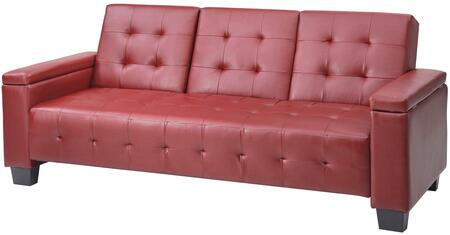 Glory Furniture G749S  Convertible Faux Leather Sofa
