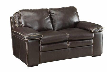 Coaster 505846 Regalvale Series Leather Match Stationary with Wood Frame Loveseat