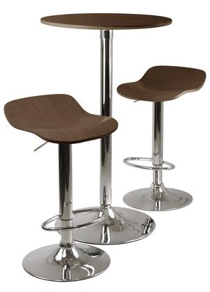 Winsome 933X4 Kallie 3-pc Round Pub Table and 2 Stools Set