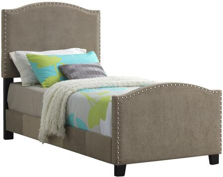 Glory Furniture G2571TBUP G2570 Series  Twin Size Panel Bed