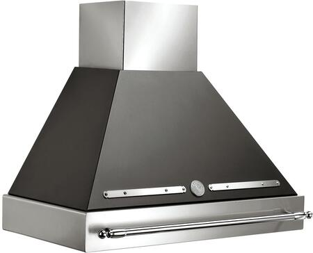 Bertazzoni KxxHERX14 Wall Mount Range Hood with 600 CFM Internal Blower, 2 Halogen Lights, Electronic Controls with Buttons, Baffle Stainless Steel Filters and Duct Cover in Stainless Steel