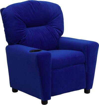 Flash Furniture BT7950KIDMICBLUEGG Childrens Microfiber Wood Frame  Recliners