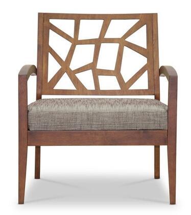 Wholesale Interiors Baxton Studio JENNIFERLC Jennifer Modern Lounge Chair with Polyurethane Foam Cushioning, Solid Malaysian Oak and Twill Fabric Seat Upholstery in Grey