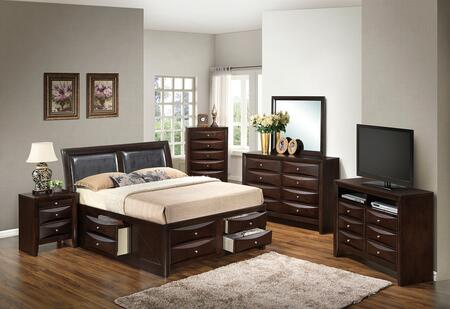 Glory Furniture G1525IKSB4DMNCHTV2 G1525 King Bedroom Sets