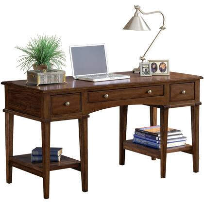 "Hillsdale Furniture 861S Gresham 56"" Wide Desk with 3 Drawers, 2 Bottom Shelves, Decorative Hardware, Wood and MDF Construction in"