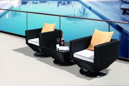 VIG Furniture VGCW9074 Modern Square Shape Patio Sets