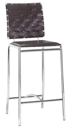 Zuo 333060 Criss Cross Series  Bar Stool