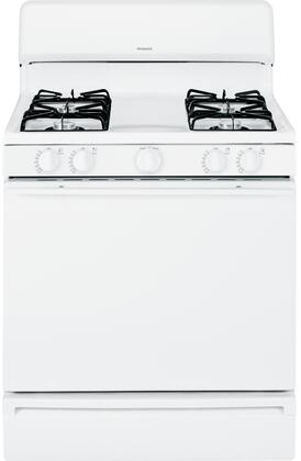 """Hotpoint RGB525DEHxx 30"""" Wide Freestanding Gas Range with 4.8 cu. ft. Oven, 4 All Purpose Burners, and Lift-Up Upswept Porcelain Cooktop"""