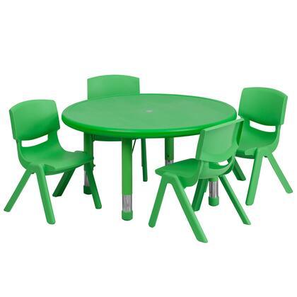 Flash Furniture YUYCX00732ROUNDTBLGREENEGG