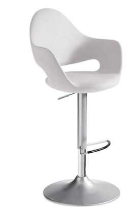 Domitalia SOFTGASZ15PBI Soft Series Residential Polyurethane Upholstered Bar Stool