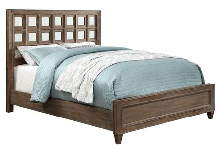 Furniture of America CM7586EKBED Frontera Series  King Size Panel Bed